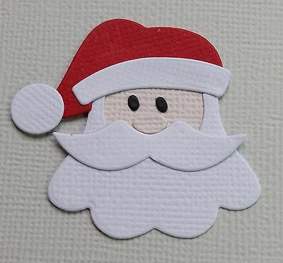 9 x Assembled Santa / Father Christmas, HEAD ONLY,  Die Cuts,  Card Making