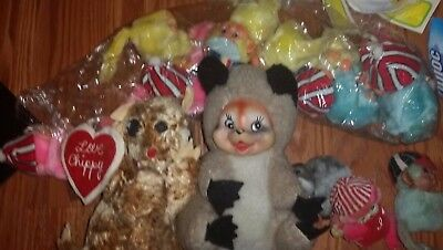 lots small of 2 Vintage The Rushton and set of mini rubber  look like monkey