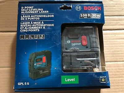 Brand New Bosch GPL 5S 5- Point Self leaving Alignment Laser Sealed
