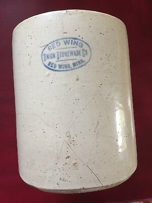 Early Red Wing Pottery Union Stoneware Chicken Waterer