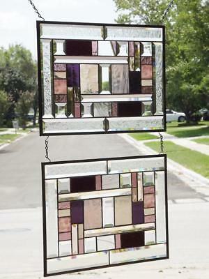"Time for WINE !  Stained Glass Panel EACH 20 1/2"" x 14 1/2"" Sold Separately"