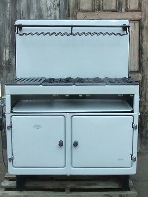 Cast Iron Enamel Face - Regulo New World 3458 Kitchen Cooker Stove Old Original