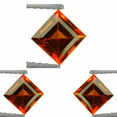 3.120Ct Unique Brilliant! Aaa Natural Top Orange Spessartite Garnet Unheated Set