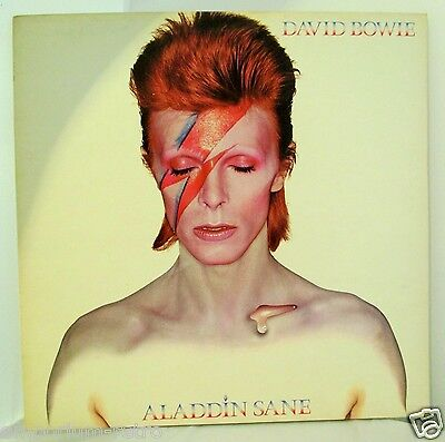 David Bowie Record Aladdin Sane 4852 1973 +Inserts Top Audio 1St Press M-