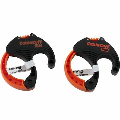 """Cable Cuff Pro Medium Cord Clamp Reusable Adjustable Carry Handle 2 Pack 2"""""""