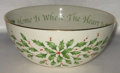 Lenox Holiday Porcelain Bowl New Home Is Where The Heart Is