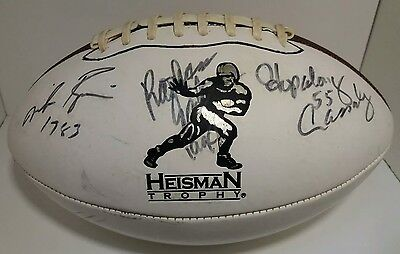 Howard Cassady, Mike Rozier, Rahsaan Salaam Heisman Trophy Autographed Football