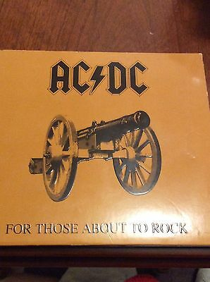 "Ac Dc Cd ""for Those About To Rock "" Vgc 2003"