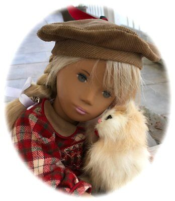 """Sasha  Smocked Plaid Flannel Outfit! 16-17"""" Doll 3 Piece Outfit"""