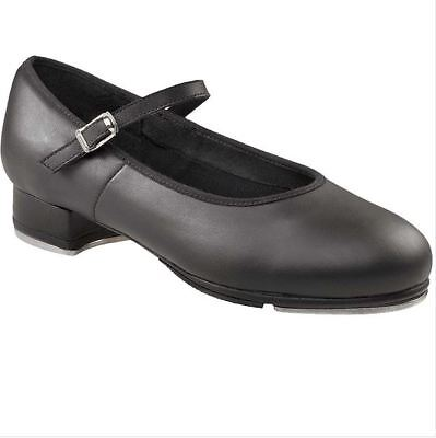 Capezio Child Black ShowtimeTapper leather tap shoe sz10.5M BNWT (27)