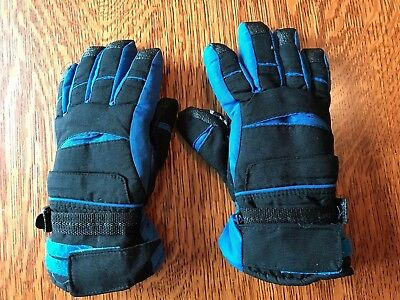Boys THINSULATE Ski Gloves Size 12-14 Blue  and Black