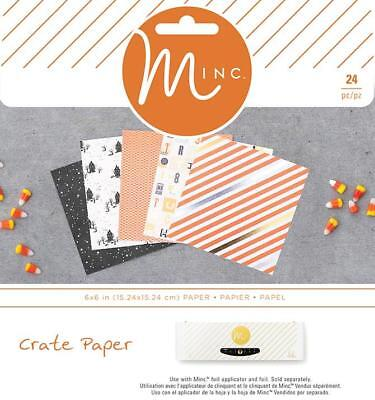 CRATE PAPER  AFTER DARK MINC  6 x 6 in Paper Pad - 24 Sheets  680284