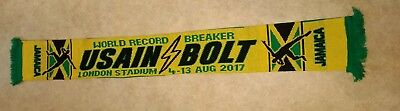 Usain Bolt Jamaica World Athletics 2017 Scarf New