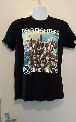 FOO FIGHTERS  SONIC HIGHWAYS  2015 ..TOUR T.SHIRT all sizes S,M,L,XL  NEW
