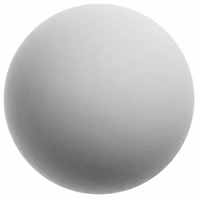 PTFE Polytetrafluoroethylene Sphere, Ground, Opaque White, Standard Tolerance,
