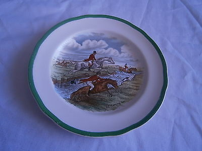 spode small plate gone away horses