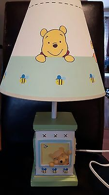 """Winnie the pooh Table lamp 18"""" excellent condition with shade - REVISED SHADE"""