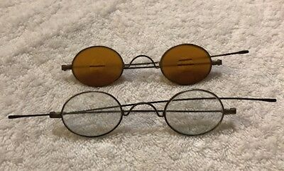 Lot of 2 Antique Wire Frame Glasses Spectacles