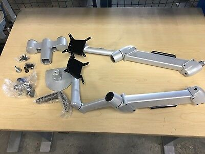 New SpaceCo SpaceArm Dual Monitor Arm SA02 custom with clamp ***Excess Inventory