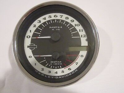 Harley Davidson Nostalgic Face Speedometer Tachometer  Dyna Softail  Road King