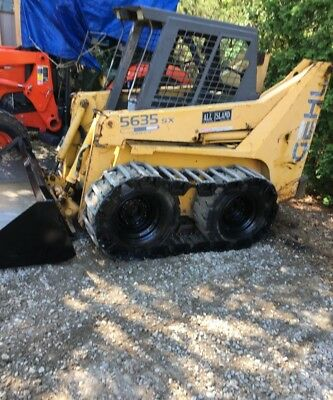 GEHL 5635 SX Skidsteer; Ready to Work!!! With should tires and steel tracks