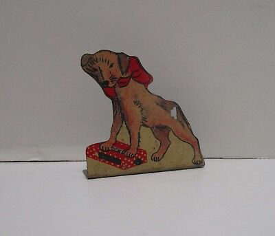 Rare Vintage Cracker Jack Tin Stand Up Checkerstown Wags Pup