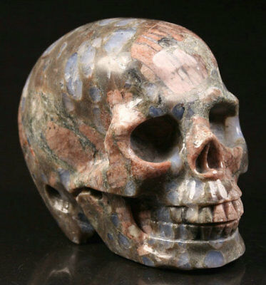 """2.0""""Blue Opal Carved Crystal Skull, Realistic, Crystal Healing"""