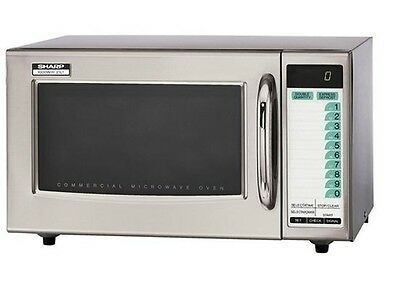 Commercial Microwave oven, 120 volts 1000 W, NSF-4, Digital Timer, Sharp R-21LTF
