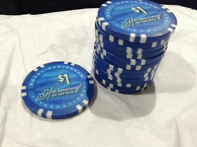 Official Royal Caribbean Harmony of the Seas WORLD LARGEST SHIP $1 CASINO CHIP