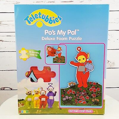 """Teletubbies Po My Pal Deluxe Foam Puzzle 36"""" Tall 1998"""