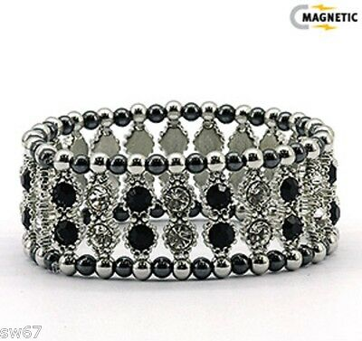 MAGNETIC HEMATITE BRACELET CRYSTAL CLASSIC 15-20 800-Gauss have more energy New