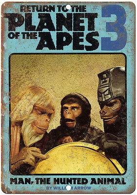"""Return to the Planet of the Apes book cover 10'"""" x 7"""" reproduction metal sign"""