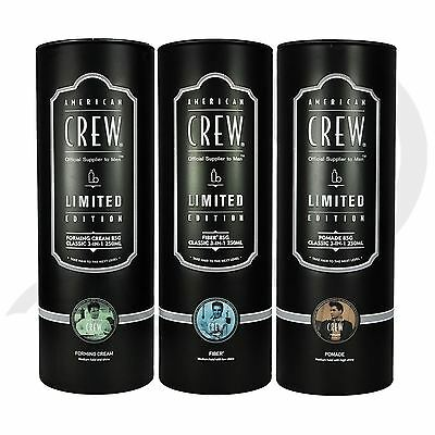 American Crew King of Rock 'n' Roll Classic 3-in-1 and Fiber/Pomade/Forming Duo