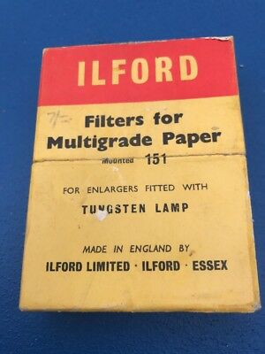 Ilford Filters For Multigrade Paper Photography