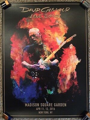 DAVID GILMOUR MADISON SQUARE GARDEN MSG LITHOGRAPH NY PINK FLOYD #622 of 675