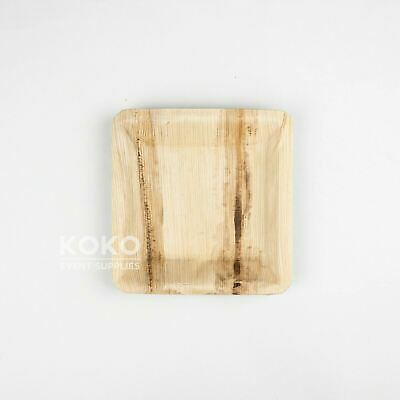 100 X 16cm Square Plate BIODEGRADABLE PALM LEAF PLATE Wood Eco Bamboo Bowl Pine
