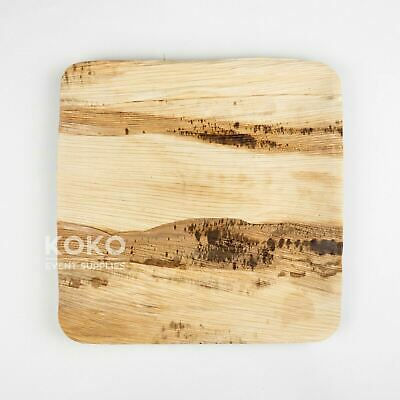 100 X 25cm Square Plate BIODEGRADABLE PALM LEAF PLATE Wood Eco Bamboo Bowl Pine