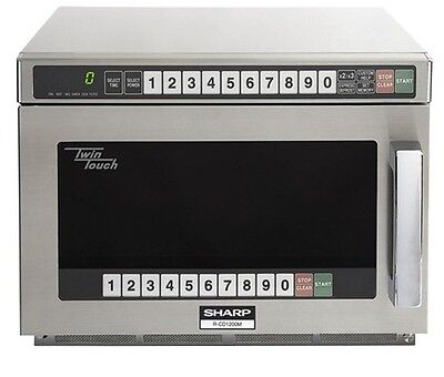 Commercial Microwave oven, 120 volts 1200 W, NSF-4, Prog. Timer, Sharp R-CD1200M