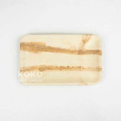 100 X 23cm x 15cm Rectangle Plate BIODEGRADABLE PALM LEAF - Wood Bamboo Eco Bowl