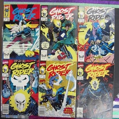 Ghost Rider Run #3-6, #9-13 & #15-17 (1990-91/Marvel, FN to NM 12 Comics)
