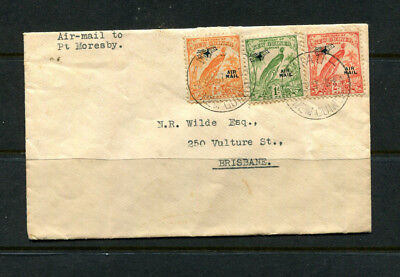 New Guinea 1937 Stamp Cover Bird Of Paradise With Air Mail Overprints