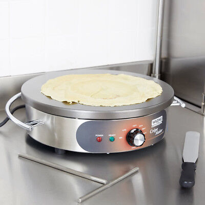 """Waring WSC160X 16"""" Crepe Maker with Heat Resistant Handle 1800W"""