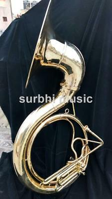 "Sousaphone 25"" Jumbo Big Size of Brass in Golden Polish With Free Mouthpc & Case"