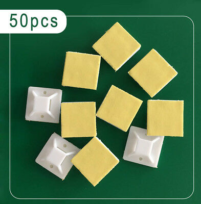 Fixing Plate Self-adhesive Plastic Wire Tie Cable Mount Clip Clamp 50pc new