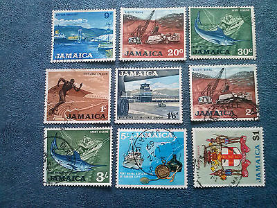 JAMAICA 1964 QEII definitives  9 stamps