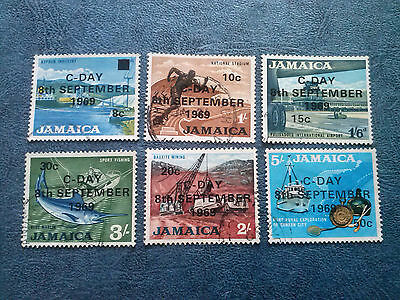 Jamaica SG280/91 C-Day set of 6 stamps  USED