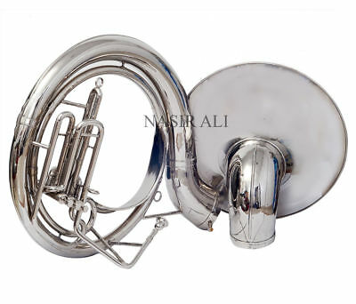 "HALLOWEEN SPECIAL SOUSAPHONE 24"" BIG BELL Bb PITCH NICKEL WITH FREE BAG AND MP"