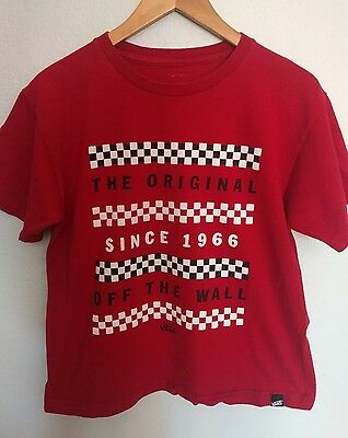 Vintage Vans Off the Wall Checkerboard Tshirt The Original since 1966 Youth XL