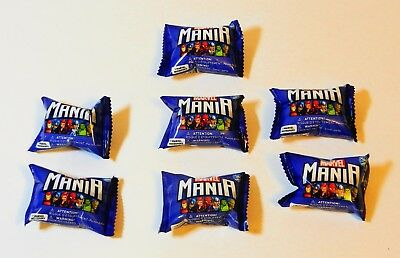 Lot of 7 pcs MARVEL MANIA MICROPOPZ Sealed Packs *RARE* Unopened Collectors