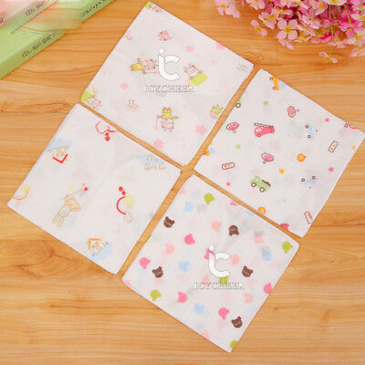 3pcs 25*25cm 2 Layers Cotton Gauze Newborn Baby Face Bathing Towel Handkerchief
